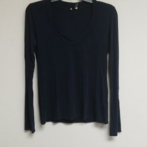 James Perse Navy Blue Long Sleeves Top Size 2